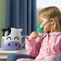 a kid-friendly nebulize; research shows that when medical equipment looks child-friendly, kids are more willing to use it!
