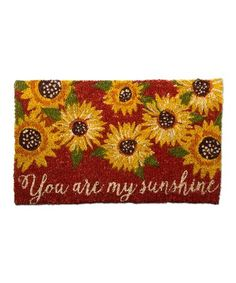 Loving this 30'' 'You Are Sunshine' Rug on #zulily! #zulilyfinds