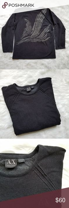 Armani Exchange Embroidered Sweatshirt Cozy, comfy and unique embroidered sweatshirt from Armani Exchange 😎  the epitome of athleisue this is the perfect oversize sweatshirt to pair with leggings and sneakers for a cool weekend vibe 🖒 no holes or stains! Armani Exchange Tops Sweatshirts & Hoodies
