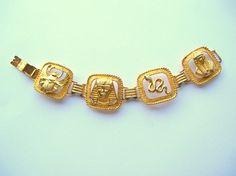 Vintage Egyptian Revival Style Bracelet  Snake  by 2VintageGypsies, $12.00