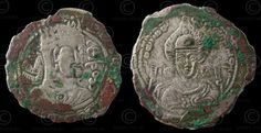 Two sides of a Hepthalite coin, Asia near modern-day Thailand btwn. 1-6th centuries AD