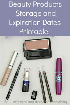 Beauty Products Storage and Expiration Dates Printable | Organizing Made Fun: Beauty Products Storage and Expiration Dates Printable