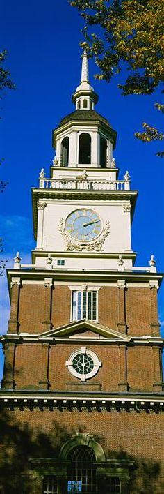Clock Tower Independence Hall -  Philadelphia, Pennsyvania