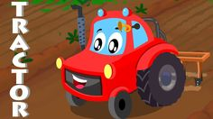 Little red car | tractor song | car songs for children