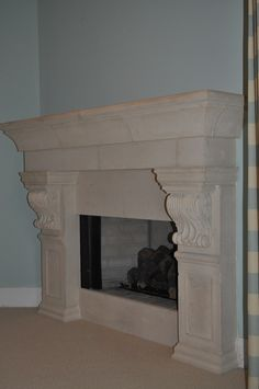 Cast Stone Fireplace Mantel Surround