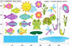 Passé de pêche pour les filles ensemble d'art par pixelpaperprints