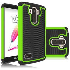 LG G Stylo Case,LG LS770 Case,DIOS CASE(TM) Raised Honeycomb Anti Slip Design Full-Body Protection Dual Layer Hybrid Rubber Grip Bumper Armor Case Cover for LG G Stylo / LG LS770 (Green) -- Visit the image link more details.