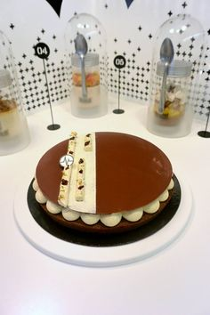 """Fantastik """"Poire choK""""  (Poire, chocolat, vanille) Winter Cakes, French Cake, French Patisserie, Pastry Art, Chocolate Decorations, Mousse Cake, Bakery Cakes, French Pastries, Pastry Recipes"""