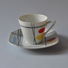 Filiżanka z serwisu Helena/Millenium - Ruszczyński, Kwinta (Wawel) The Dish, Bone China, Ski, Portugal, Tea Cups, Mid Century, Polish, Glass, Vintage