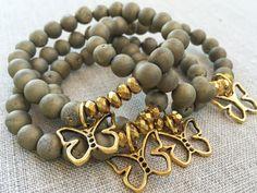 Butterfly bracelet, gold druzy bracelet, childhood cancer awareness, september, pediatric cancer, support bracelet, CureSearch Fundraiser