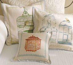 Bird Cage Pillow Covers #potterybarn