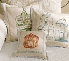 Bird Cage Pillow Covers #potterybarn