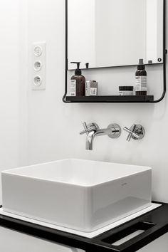 countertop basin/ modern bathroom/ scandinavian style #housedoctor #LABRUKET