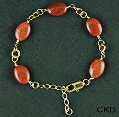 CKD PEDRAS E FOLHEADOS: Linda esta pulseira com Pedra do Sol para uma sext...