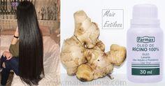 Gengibre como usar para o cabelo crescer mais rápido e acabar com a queda de cabelo.Aprenda essa super receita caseira com óleo de rícino.