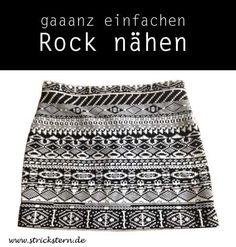 Einen Rock nähen aus elastischem Strickstoff ist ganz einfach und schnell gemacht. So entsteht ganz schnell ein individuelles Kleidungsstück.