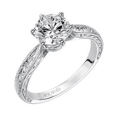 Love this new antique inspired engagement ring style from @ArtCarved Bridal