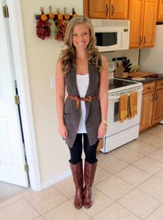 Black Leggings with Brown Boots | Road Trip to Savannah | Peanut Butter Fingers