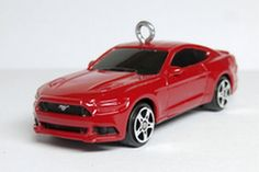 2016 Red Ford Mustang GT Car Christmas Ornament by BettyGiftStore