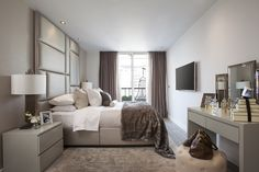 Master bedroom interior -Designed by JHR Interiors