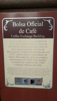 Placa do Café da Bolsa de Café / Santos