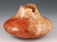 Natural Edge Red Malee Southwest Influenced Hollow Form