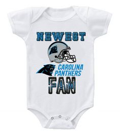 NEW Football Baby Bodysuits Creeper NFL Carolina Panthers #2