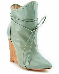 """Plomo """"Camille"""" Leather Wedge Ankle Boot"""