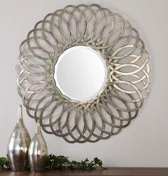 Uttermost Adler Metal Round Mirror 12870
