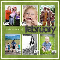 find photos of roughly the same date over a number of years and put them together. I love seeing what story photos from various time periods...