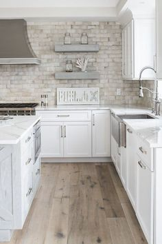 THE BEACH COTTAGE PROJECT Kitchen American Cottage by Town & Country Kitchen and Bath would enjoy creating this beachy cottage kitchen cabinets, tiles, countertops and tile floors. Beach Cottage Style, Beach Cottage Decor, Coastal Cottage, Cottage Style Decor, Beach Condo Decor, Beach Kitchen Decor, Coastal Living, Kitchen And Bath Design, Lake Cottage
