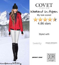 Weekend in Aspen  @covetfashion #covet #covetfashion #covetfashionapp #fashion #womensfashion #covetwinter2015 #winter2015 #aspen #vincecamuto #frenchconnection #pointzero #doricsengeri
