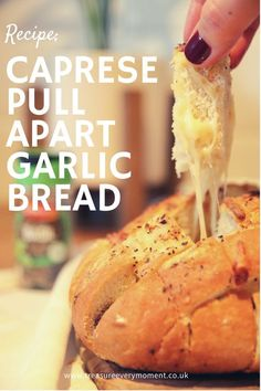 Jan 11, 2021 - RECIPE: Caprese Pull Apart Garlic Bread