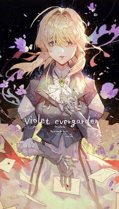 """""""Violet Evergarden"""" The latest anime show you should watch this Manga Anime, Sad Anime, I Love Anime, Manga Girl, Anime Girls, Kawaii, Cool Animes, Violet Evergreen, Violet Evergarden Anime"""