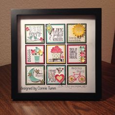 Hi Stampers! Tonight I am going to share one of my favorite things I have ever designed! This is a collage that I did about a year ago and it combines a lot of different Stampin' Up! Sets to create a