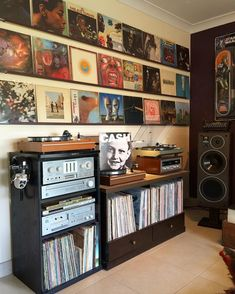 Pink Floyd - The Final Cut. I've finally posted all of the Pink Floyd studio albums. This is some incredible work from Roger… Vinyl Record Display, Vinyl Record Storage, Vintage Record Player Cabinet, Record Shelf, Record Wall, Lp Storage, Media Storage, Storage Ideas, Vinyl Room