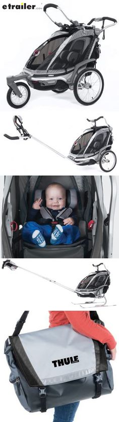 Deluxe hiking/skiing trailer, stroller, and jogger has everything you need to stay active with your child from infancy through toddlerhood. First-year accessories include car seat adapter, baby supporter, and cargo bag.