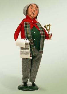 """""""Man with Bells"""" a product from the Holiday Carolers."""
