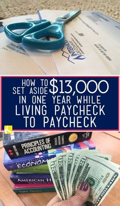 Putting money away while living paycheck to paycheck can feel legitimately impossible. But we also don't believe you need a six-figure salary to do it. To get started, try focusing on one extra str. Ways To Earn Money, Earn Money From Home, Make Money Fast, Earn Money Online, Make Money Blogging, Money Tips, Money Saving Tips, How To Save Money, Money Hacks