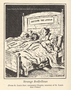 """Strange Bedfellows"". A political cartoon"