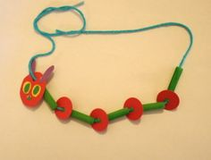 The Very Hungry Caterpillar Necklace Craft at Buggy and Buddy