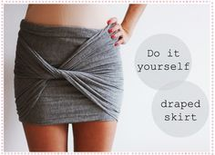 diy draped skirt... great use for thrift store knit fabric finds!