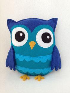Kawaii Blue Owl Plush. $15,00, via Etsy.