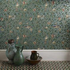Morris & Co | Designer Fabrics and Wallpaper | Bird & Pomegranate (DARW212539) | Archive II Wallpapers