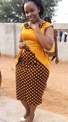 Gorgeous And Smart ShweShwe Dresses 2018 - style you 7 Latest African Fashion Dresses, African Print Dresses, African Dresses For Women, African Print Fashion, African Attire, African Wear, African Style, Ghana Fashion, Africa Fashion