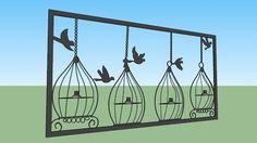 Adorno de gaiolas e passarinhos - 3D Warehouse