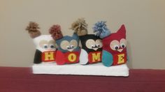Christmas sewn owl home