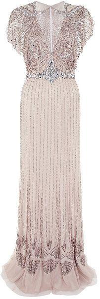 Jenny Packham Pink Embellished Gown