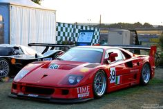 Ferrari F40, Ferrari Racing, Classic Wooden Boats, Classic Race Cars, Car Mods, Courses, Concept Cars, Cars And Motorcycles, Vintage Cars