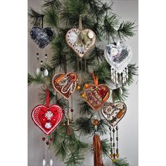 Fall decoration, Heart wall hanger, Autumn door decoration, Unique... (2.000 RUB) ❤ liked on Polyvore featuring home, home decor, holiday decorations, holiday wall decor, brown home decor, heart christmas ornaments, felt xmas ornaments and felt christmas ornaments